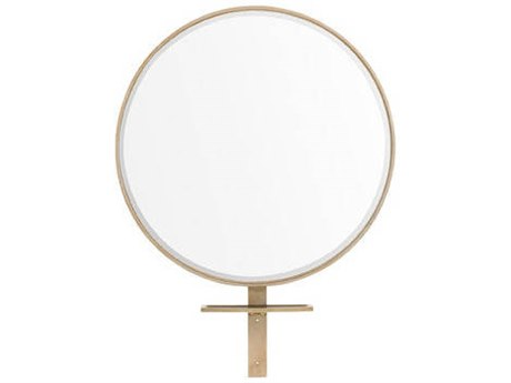 Caracole Modern Artisans Matte Gold 40''Wide Round Wall Mirror CAMATSMIRROR002