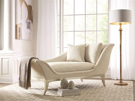 Caracole Compositions Avondale Soft Silver Chaise Lounge CASC020417071A