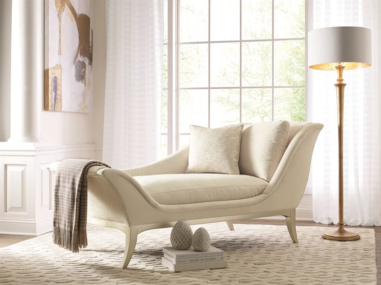 Caracole Compositions Avondale Soft Silver Chaise Lounge