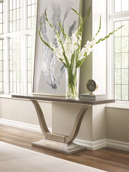 Caracole Compositions Avondale Ash / Soft Silver 64''W x 17''D Rectangular Console Table CASC021417442