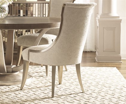 Caracole Compositions Avondale Pearlescent / Soft Silver Leaf Dining Side Chair