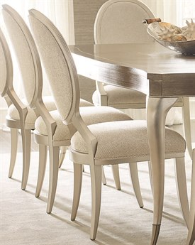Caracole Compositions Avondale Brushed Tweed / Soft Silver Dining Side Chair (Set of 2) CASC022417282