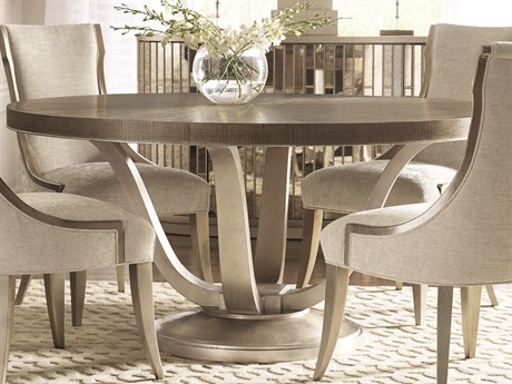 Caracole Avondale Ash / Soft Silver 62'' Wide Round Dining Table