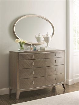 Caracole Compositions Avondale Double Dresser with Wall Mirror CASC023417021SET