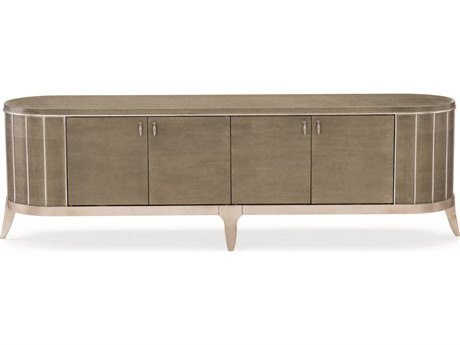 Caracole Compositions Avondale Ash / Soft Silver 83''W x 21''D Rectangular Entertainment Console CASC021417531