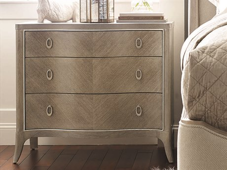 Caracole Compositions Avondale Ash / Soft Silver 36''W x 19''D Rectangular Three-Drawer Nightstand CASC023417062
