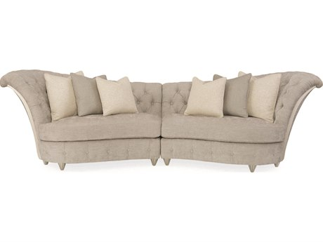Caracole Avondale Pearlescent Brushed Chenille / Soft Silver Sectional Sofa