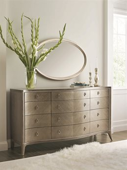 Caracole Compositions Avondale Triple Dresser with Wall Mirror CASC023417011SET