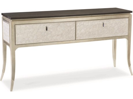 Caracole Classic Midnight Maple / Soft Silver Leaf 64''W x 14''D Rectangular Sideboard CACCLA417215