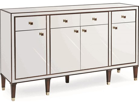 Caracole Classic Mirrored with Mahogany / Whisper Gold 68''W x 18''D Rectangular Sideboard CACCLA016215
