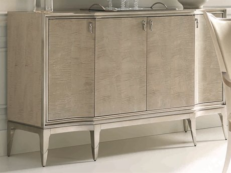 Caracole Classic Moonlit Sand / Soft Silver Leaf 68''W x 20''D Rectangular Sideboard CACCLA417681