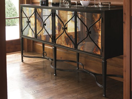 Caracole Classic Mirrored / Amaretto 74''W x 18''D Rectangular Buffet CACCONCLOSTO001