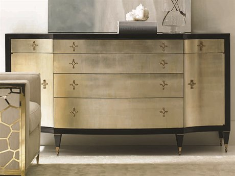 Caracole Classic Tuxedo Black / Pompeii 72''W x 24''D Rectangular Sideboard CACCONCLOSTO068