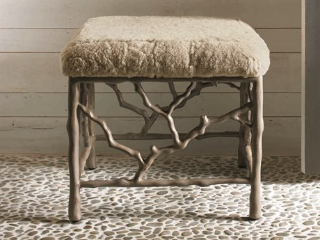 Caracole Classic Beige with Blue Stone Accent Bench CACCASUPHBEN001