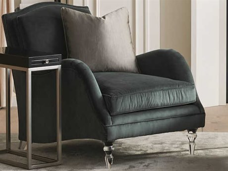 Caracole Classic Fancy Footwork Smoky Grey / Acrylic Accent Chair CACUPH017033A