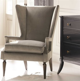 Caracole Classic Arms Wide Open Soft Grey / Dark Roast Accent Chair CACUPH017035A