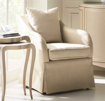 Caracole Classic Let It Roll Cream Accent Chair CACUPH017036A