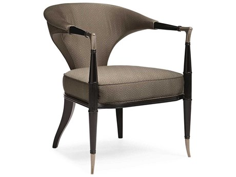 Caracole Classic In Good Shape Brown / Tuxedo Black Accent Chair CACUPH017131A