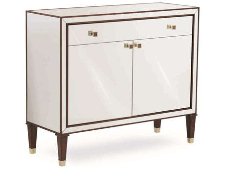 Caracole Classic Mirrored with Mahogany Accent Hall Chest