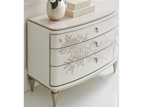 Caracole Classic Queen Lace / Winter Wheat / Warm Reflections Accent Chest CACCLA018465