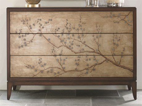 Caracole Classic Cherry Blossom Mahogany Three-Drawer Accent Chest