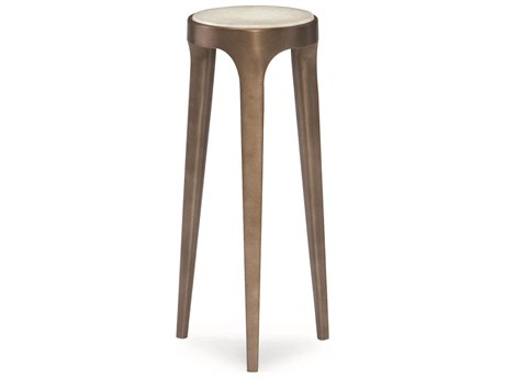 Caracole Classic Natural White Crystal Stone Accent Stool CACCLA015422
