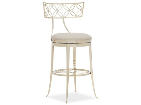 Caracole Classic Whisper Of Gold Side Swivel Bar Height Stool