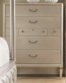 Caracole Classic Pearl / Taupe 42''W x 19''D Rectangular Seven-Drawer Chest of Drawers