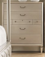 Classic Pearl / Taupe 42''W x 19''D Rectangular Seven-Drawer Chest of Drawers