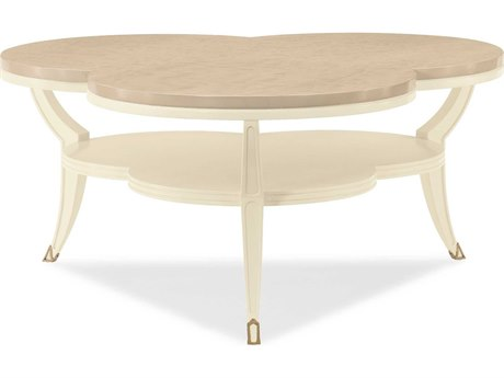 Caracole Classic Platinum Blonde / Ivory 38'' Wide Coffee Table