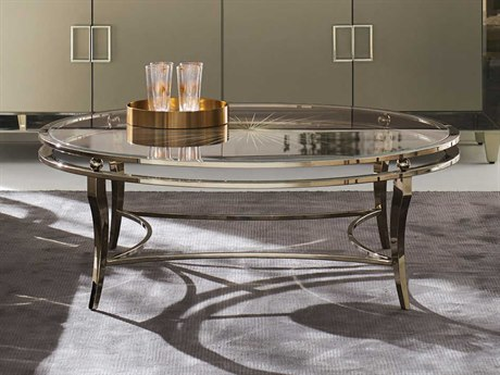 Caracole Classic Whisper Of Gold / Neutral Metallic 48'' Wide Round Coffee Table