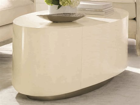 Caracole Classic Dreamy White 57''W x 26''D Oval Cocktail Table CACCONCOCTAB031