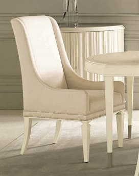 Caracole Classic Ivory Boucle Highback Dinning Side Chair CACCLA016273