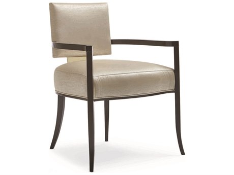 Caracole Classic Gold Sateen Dining Arm Chair CACCLA016275