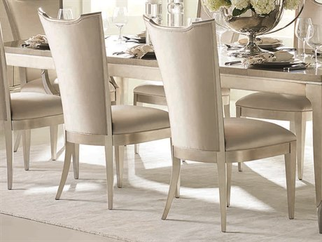 Caracole Classic Soft Silver Leaf High Back Dining Side Chair (Set of 2) CACCLA417282