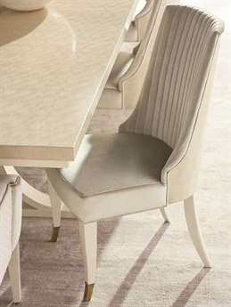 Caracole Classic Platinum Blonde / Ivory Side Dining Chair CACCLA418281