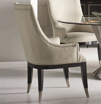 Caracole Classic Beige / Black Dining Arm Chair (Sold in 2) CACCONSIDCHA003