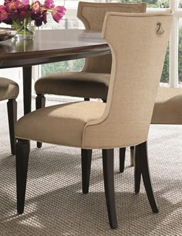 Caracole Classic Chenille Gold Dining Side Chair (Sold in 2) CACTRASIDCHA015