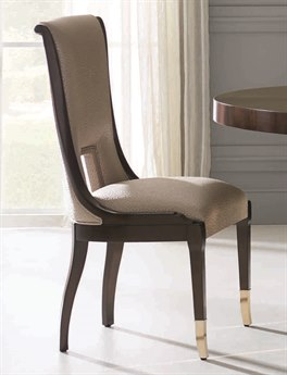Caracole Classic Taupe Shimmer / Espresso Bean Dining Side Chair (Sold in 2) CACTRASIDCHA016
