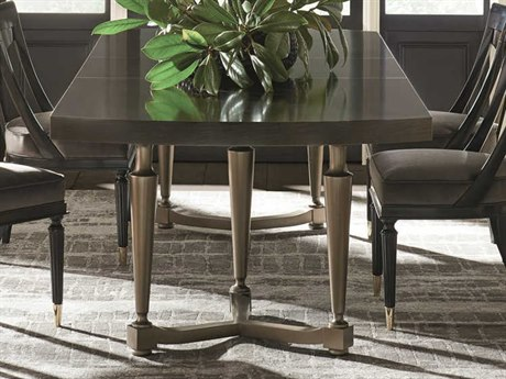 Caracole Classic Dark Roast / Harvest Bronze 86-110''W x 44''D Rectangular Family Dining Table with Extension