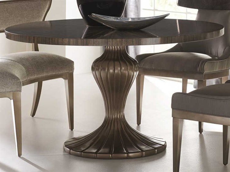 Caracole Clic Sepia Harvest Bronze 54 Wide Round Discussion Dining Table