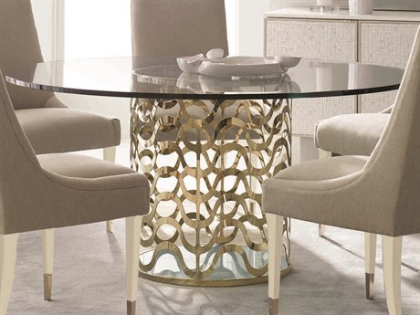 Caracole Classic Whisper of Gold 60'' Wide Round Dining Table CACCLA416202
