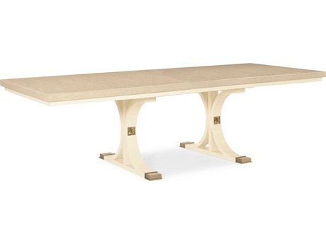 Caracole Classic Platinum Blonde / Ivory 90-130'' Wide Rectangular Dining Table