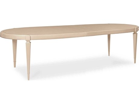 Caracole Classic Radiant Pearl / Sparkling Agent 104-144'' Wide Oval Dining Table CACCLA418202