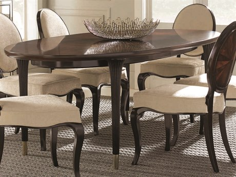 Caracole Classic Mahogany / Espresso Bean 90-134''W x 45''D Oval Dining Table with Extension CACTRADINTAB014