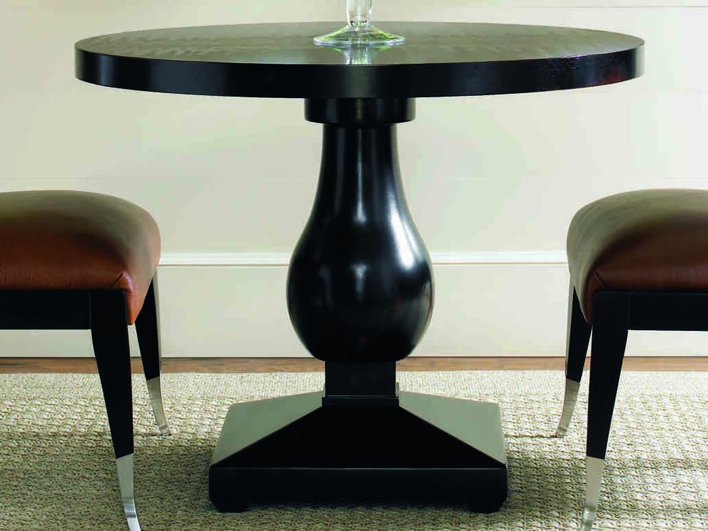 Caracole Classic Caviar Black 36 Wide Round Pedestal