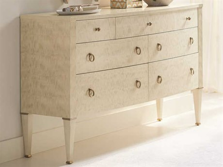 Caracole Classic Platinum Blonde 7 Drawers Double Dresser