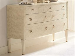 Classic Platinum Blonde 7 Drawers Double Dresser