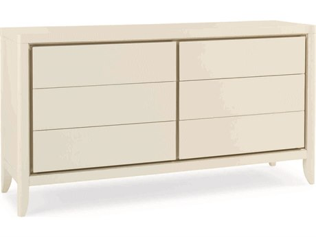 Caracole Classic White Six-Drawer Double Dresser CACCONCLOSTO048