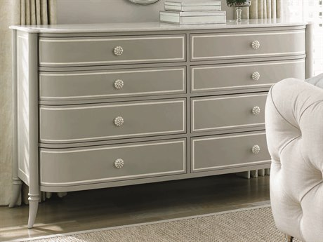 Caracole Classic Creme Stone/ Grey Eight-Drawer Double Dresser CACTRACLOSTO085
